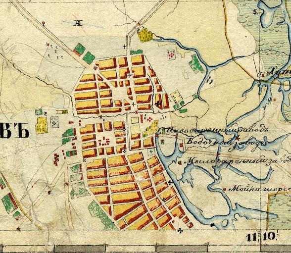 План города Тамбова 1851-1852 гг.
