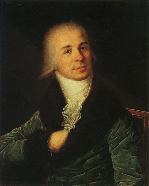 Смирновский. Портрет Г.Р. Державина. Начало 1790-х гг.
